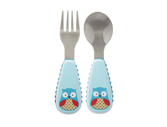 Skip Hop Zootensils Little Kid Fork & Spoon Owl