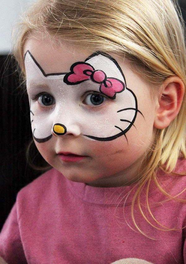 Грим для детей пошаговое фото