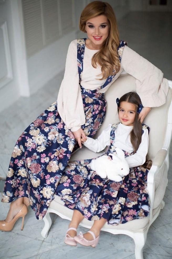 Бородина с дочкой платья фото